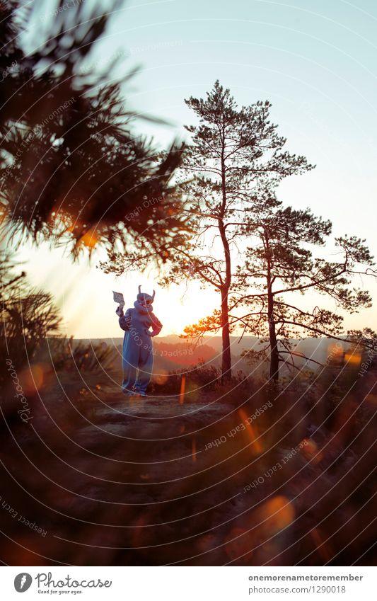 Peace? Kunst Kunstwerk ästhetisch Außerirdischer Monster außerirdisch Zukunft Kostüm Karnevalskostüm Laser friedlich Fremder fremd Ausländer Licht Sonnenaufgang