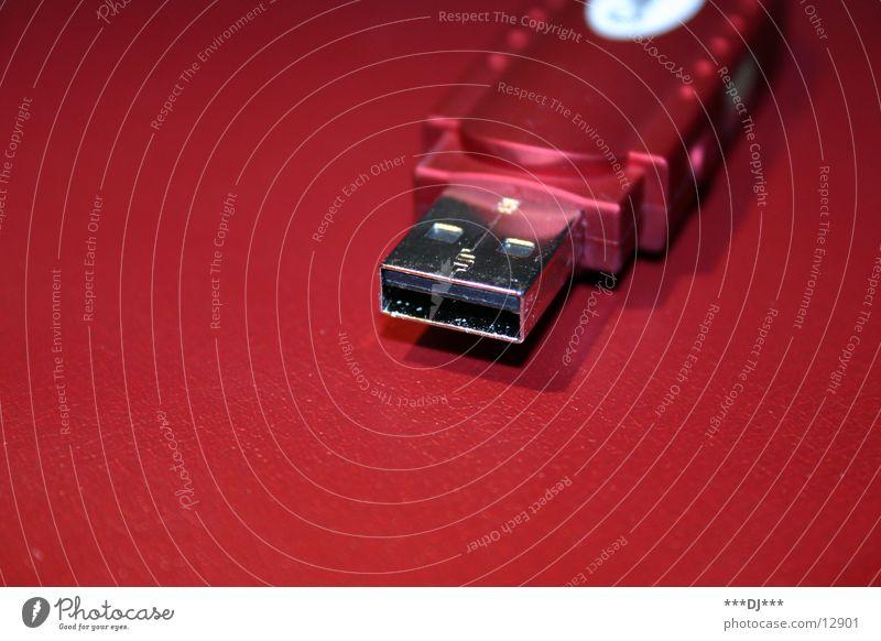 USB Stick rot Entertainment Daten transferieren Informationstechnologie Schnittstelle