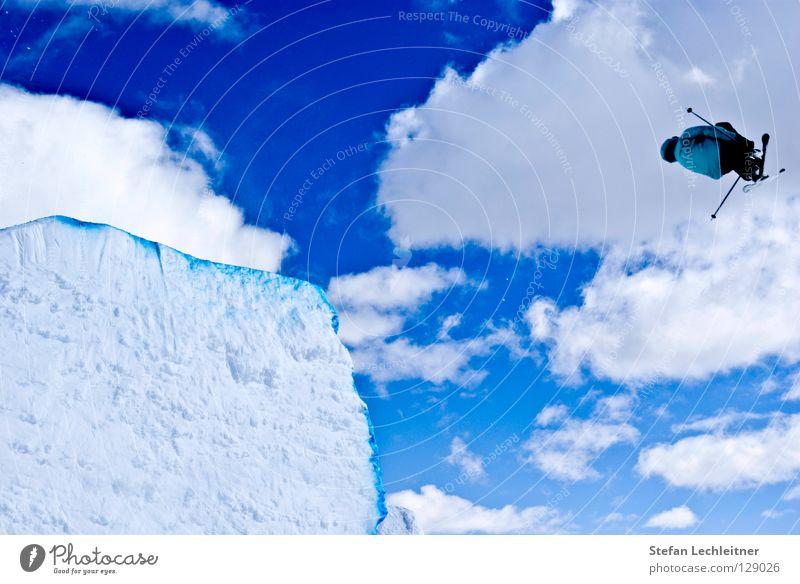 Flight Control III schön Freude Winter Hintergrundbild Freiheit fliegen springen Freizeit & Hobby groß hoch Show Alpen Risiko Skifahren Mut drehen