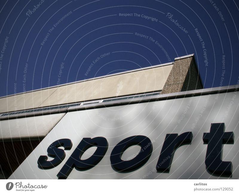 neues vom .... Sporthalle Schulsport Gesundheit Fitness Schilder & Markierungen Wort Typographie Textfreiraum oben