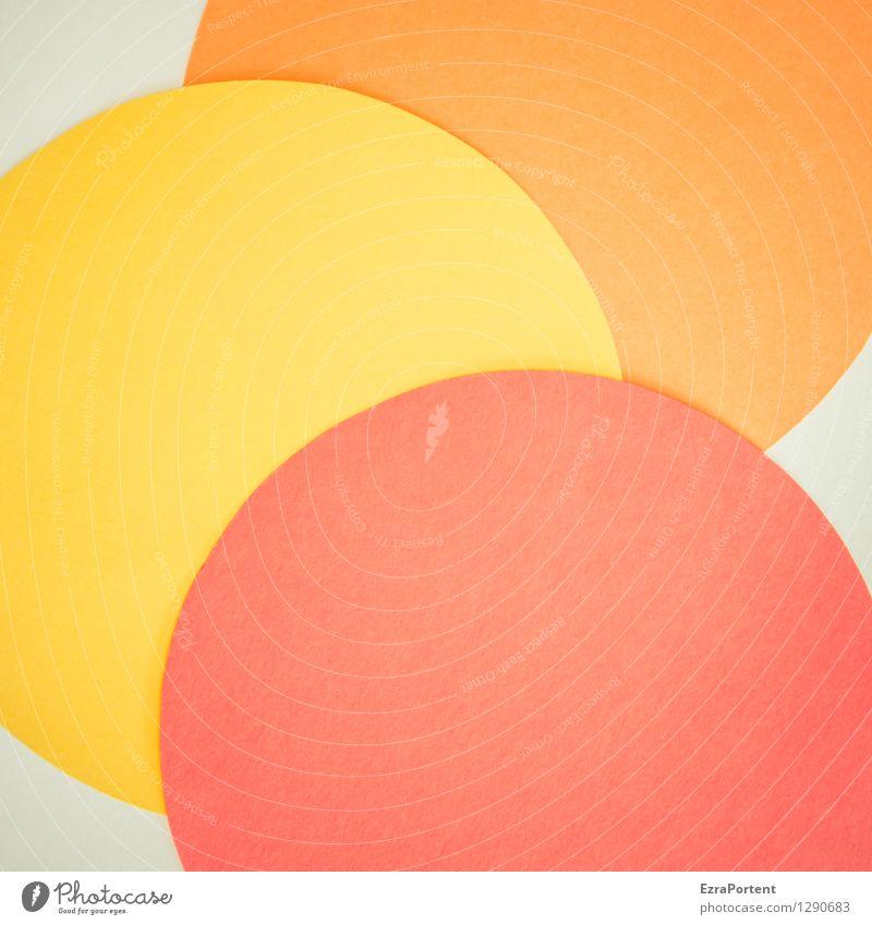 bubbles elegant Stil Design Spielen Basteln Zeichen Kugel Linie ästhetisch hell rund gelb orange rot weiß Farbe Werbung Zusammenhalt Grafik u. Illustration