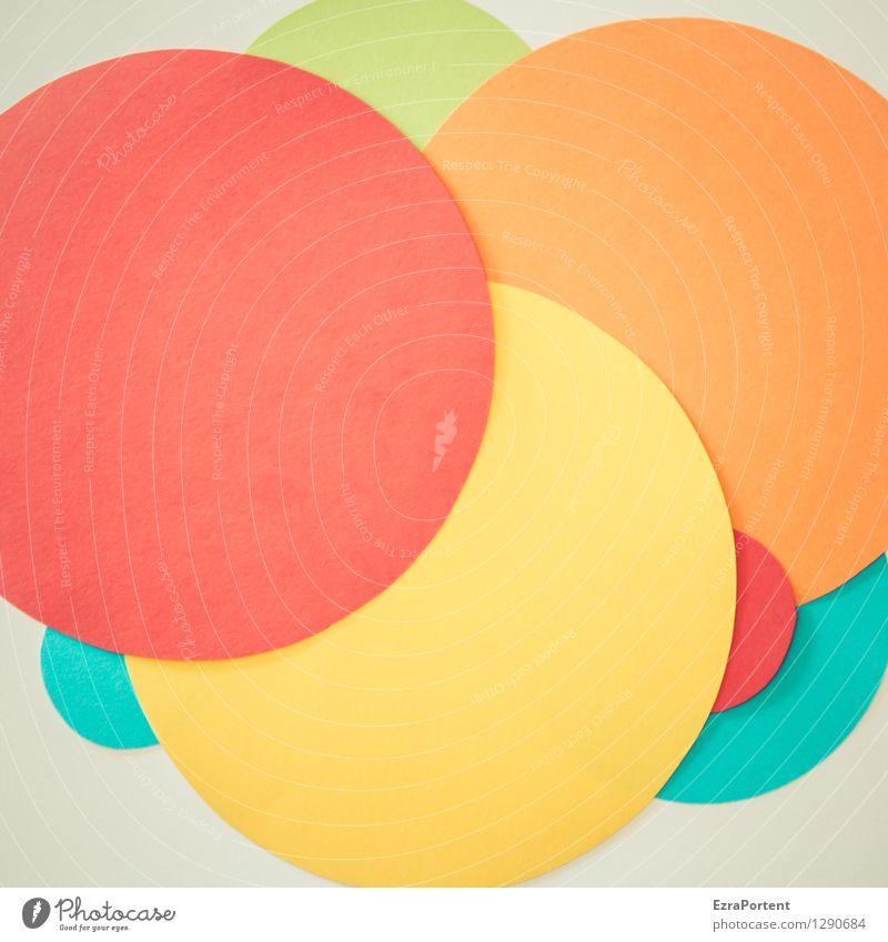 bubble`s blau grün Farbe weiß rot gelb Stil Hintergrundbild Linie hell orange Design Fröhlichkeit ästhetisch Kreis Papier