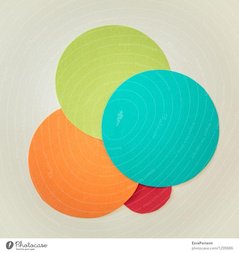 bubbles Stil Design Basteln Zeichen Kugel Linie rund blau mehrfarbig grau grün orange rot türkis Farbe Grafik u. Illustration Kreis Punkt Grafische Darstellung