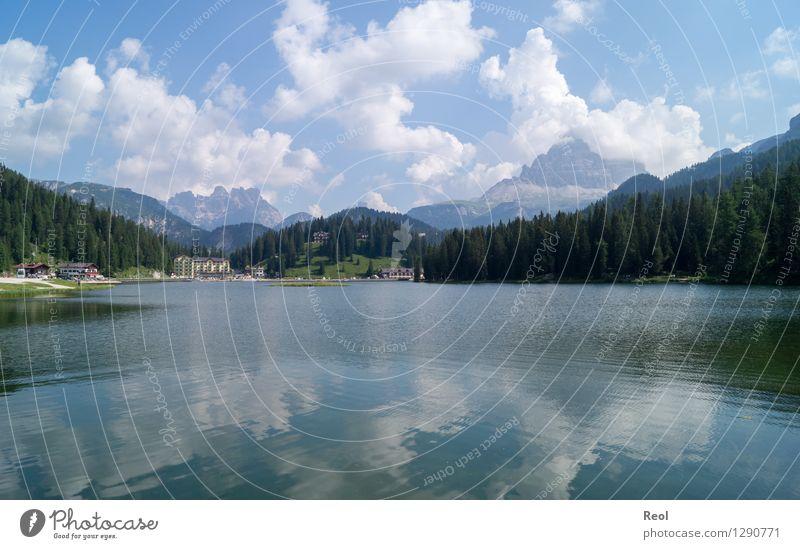 Lago di Misurina Ferien & Urlaub & Reisen Tourismus Ausflug Ferne Sightseeing wandern Umwelt Natur Landschaft Himmel Wolken Sommer Schönes Wetter Wald Alpen
