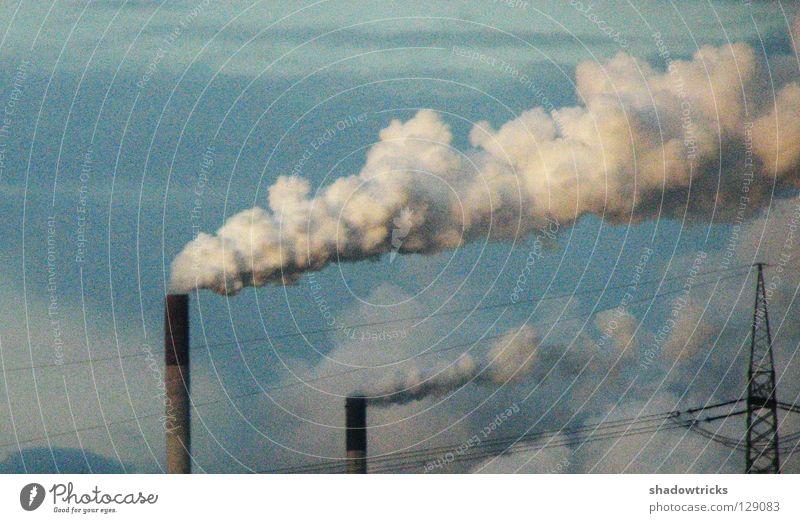 CloudFactory® ökologisch Zerstörung verwandeln Luft Rauch Wolken Fabrik Umweltschutz Rettung Planet Elektrizität Energiewirtschaft Lava Ausbruch chaotisch ruhig