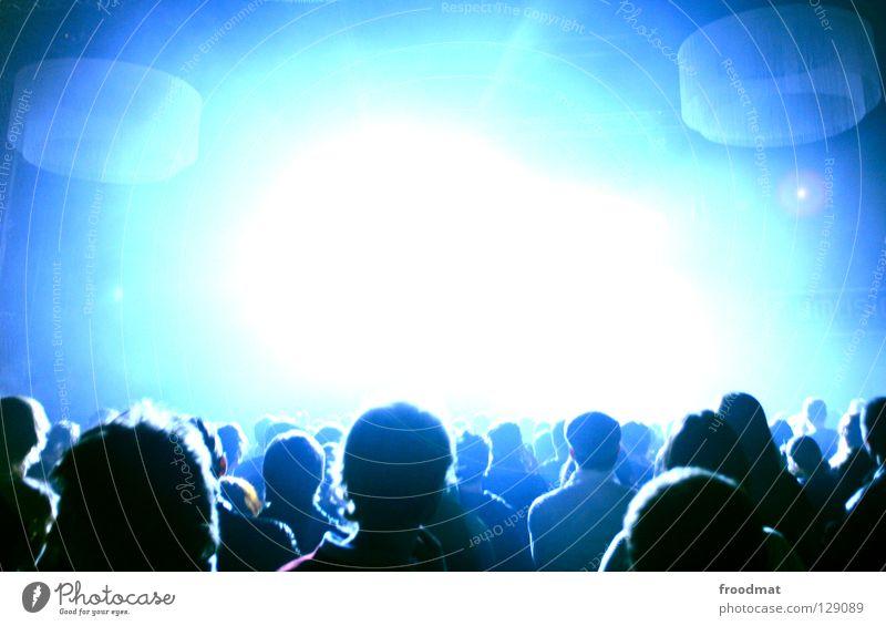 Lightroom Mensch Jugendliche blau Freude kalt Party Musik Menschengruppe Kopf Stimmung hell Tanzen Feste & Feiern Gegenlicht lustig abstrakt