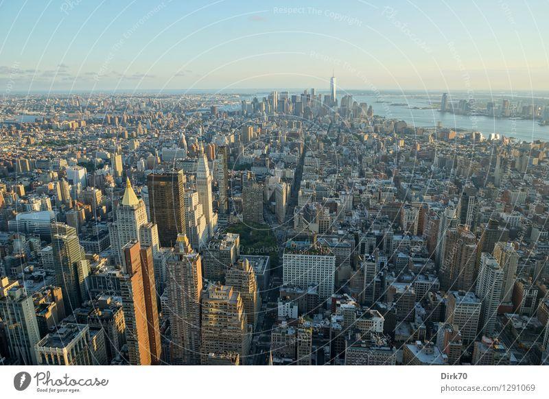 Ein weites Feld Ferien & Urlaub & Reisen Tourismus Sightseeing Städtereise Sonnenlicht Sommer Schönes Wetter Fluss East River Hudson River New York City