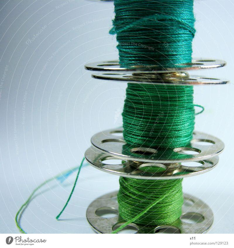 NähFaden II grün Farbe Mode Freizeit & Hobby 3 Bekleidung Stoff türkis Handwerk Nähgarn Textilien Nähen Windung wickeln Naht Schneider