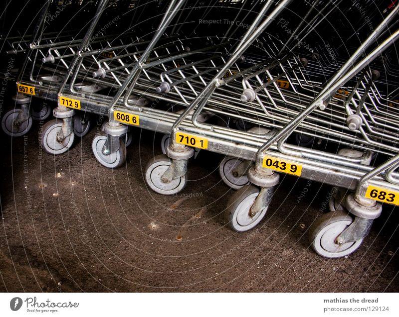 LET'S GO ROLL Supermarkt Ladengeschäft Wagen Ware Karre mehrere abholen bereit unbenutzt gebrauchen praktisch Führerschein Griff Stoff Material weiß rot Gitter