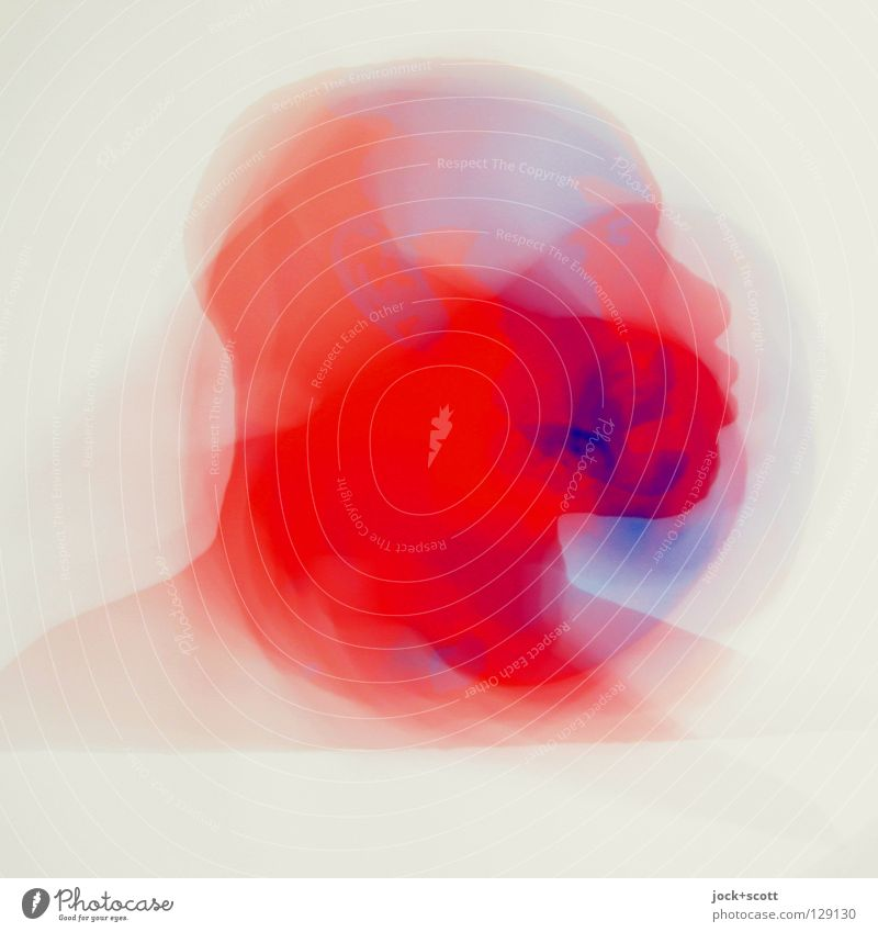 Vertigo Sinnesorgane Kopf Kunst Grafik u. Illustration Piktogramm Bewegung drehen außergewöhnlich blau rot Gefühle beweglich träumen verstört ästhetisch