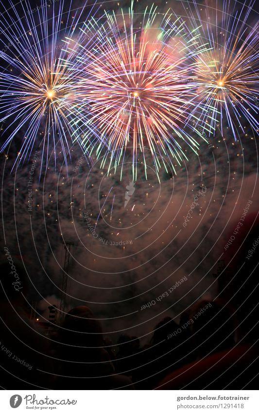 der große Knall Freude Nachtleben Party Veranstaltung Feste & Feiern Silvester u. Neujahr Jahrmarkt Nachthimmel glänzend ästhetisch außergewöhnlich fantastisch