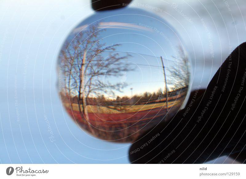 Linse vor der Linse 3 schön Landschaft Spielen Hintergrundbild Glas Kreis rund Schönes Wetter einfach Reflexion & Spiegelung Zaun Grenze Linse Optik Verzerrung Lichtpunkt