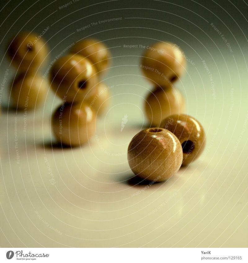 kopf ab Holz braun Ball rund Kugel Loch Perle Rolle Halskette