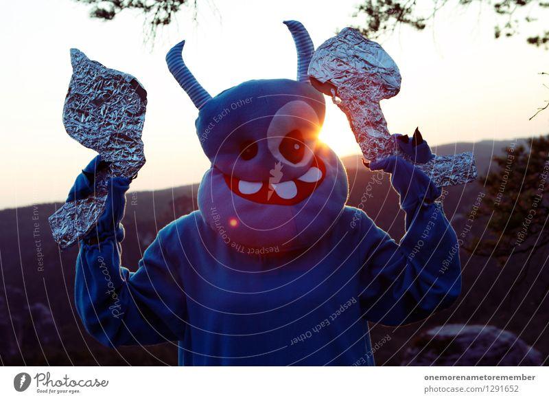 Ach das äh, sind... Christbaumspitzen blau Sonne Kunst ästhetisch Fernweh Heimat Kunstwerk Kostüm Karnevalskostüm Monster Pistole Außerirdischer Laser ungeheuerlich Sächsische Schweiz Ungeheuer