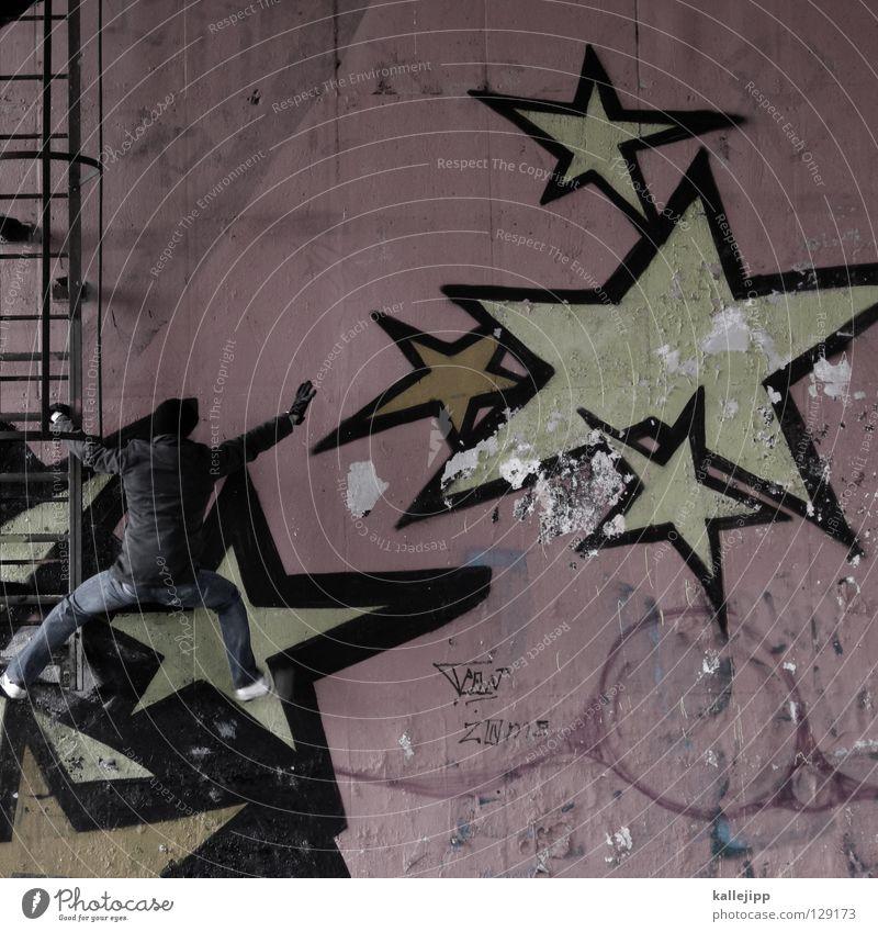 * Mensch Himmel Mann Hand Haus Fenster Berge u. Gebirge Graffiti Gefühle springen See Lampe Luft Linie Tanzen Glas