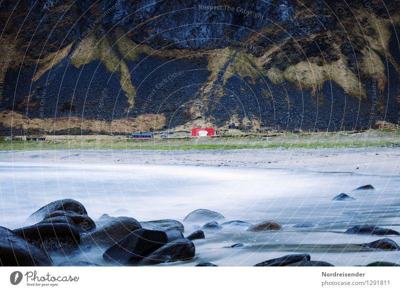 Lofoten.... Ferien & Urlaub & Reisen Stadt Wasser Meer Einsamkeit Landschaft Haus Ferne Berge u. Gebirge Küste Stein Stimmung Felsen Regen Häusliches Leben Wind