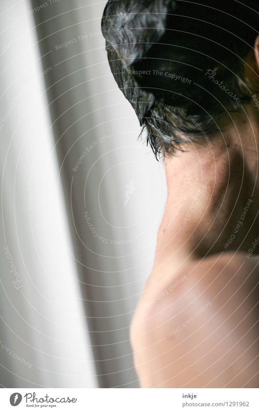 Sommer Mensch Frau nackt schön Erwachsene Leben Haare & Frisuren Schwimmen & Baden Lifestyle Körper Haut dünn Körperpflege Sommerurlaub schwarzhaarig
