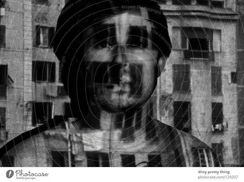 fenster front Stadt Fenster verstecken Porträt unklar Täter