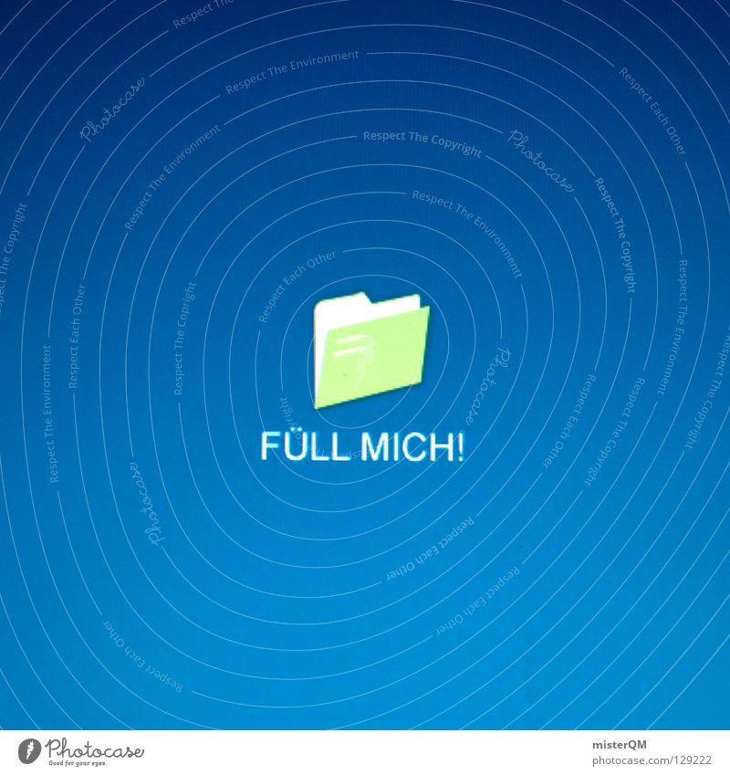 wICON - Fuell mich! blau Erde Arbeit & Erwerbstätigkeit modern neu Internet Technik & Technologie Schreibtisch Kreativität Medien Idee E-Mail Versuch