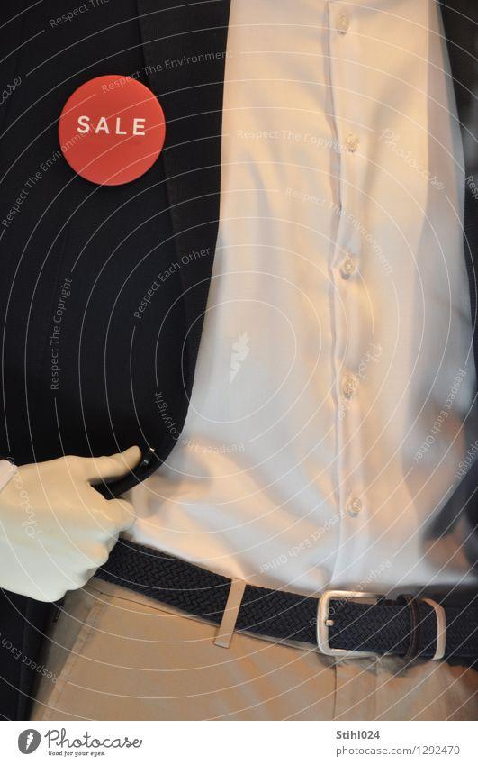 SALE # 80 Lifestyle kaufen Stil maskulin Junger Mann Jugendliche Brust Oberkörper 1 Mensch Mode Hemd Jacke Gürtel verkaufen elegant Billig blau weiß Freude