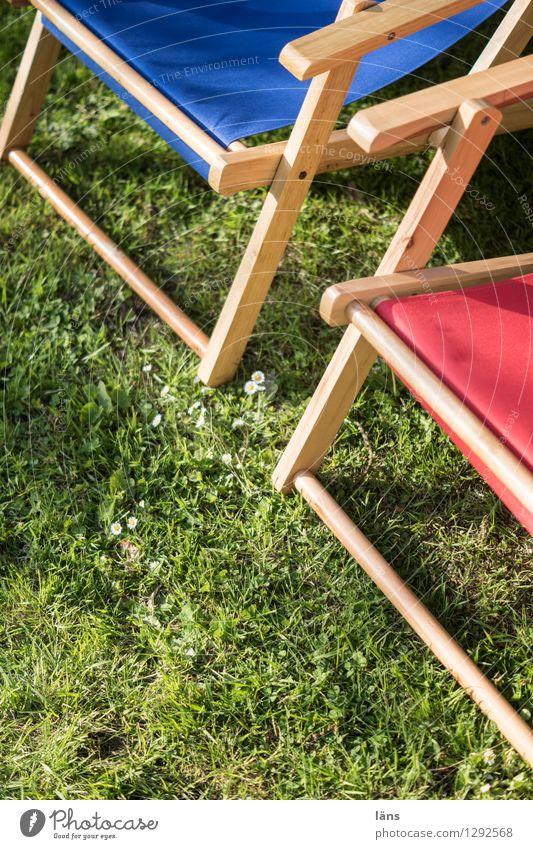 Liegewiese Liegestuhl Feierabend Wiese Pause Garten Sommer