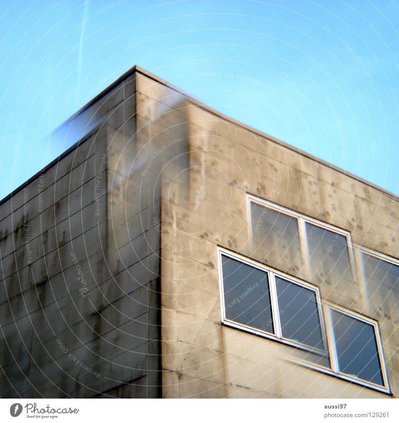 Polygon Hochhaus Stadt Etage Dach Penthouse Smog Prisma 2 seltsam Industrie Doppelbelichtung Lomografie Unschärfe Alkoholeinfluss Drogeneinfluss Surrealismus