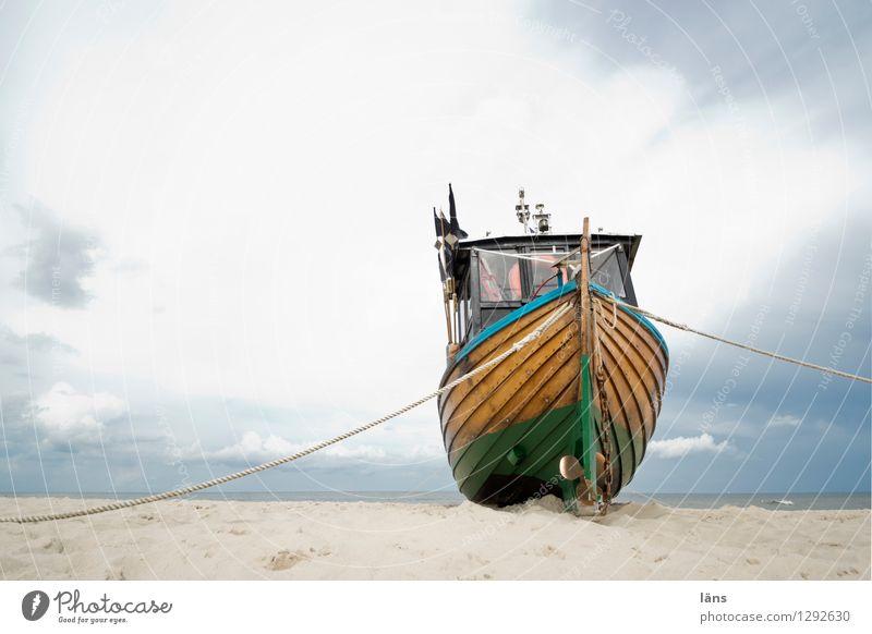 die Sehnsucht in dir Strand Sand Wasserfahrzeug Himmel Ostsee Fischereiwirtschaft maritim