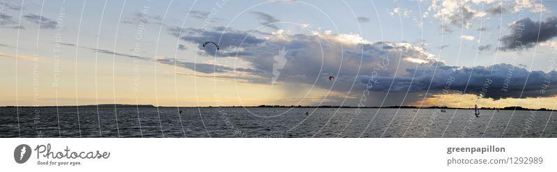 Ostseewetter Angeln Surfen Sommerurlaub Meer Insel Wellen Segeln Windsurfer Windsurfing Natur Landschaft Wasser Himmel Wolken Gewitterwolken Horizont