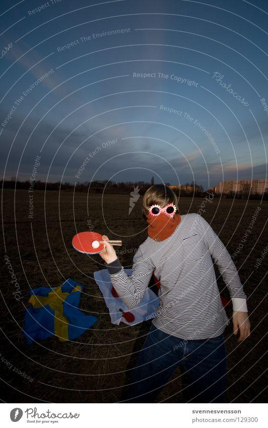 Hadschi Halef Omar Mensch Mann Gesicht Spielen Freizeit & Hobby Ball Maske Karneval anonym Karnevalskostüm Sportgerät unsichtbar Ballsport Tischtennis