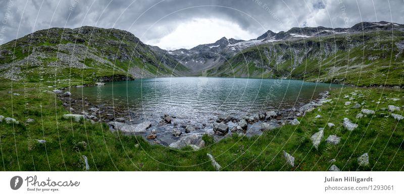 Bergsee Lifestyle Freizeit & Hobby Ferien & Urlaub & Reisen Ausflug Abenteuer Ferne Berge u. Gebirge wandern Umwelt Natur Landschaft Tier Himmel Wolken Wetter