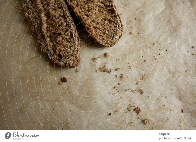 verkrümelt Lebensmittel Backwaren Brötchen Krümel rustikal Vollkorn