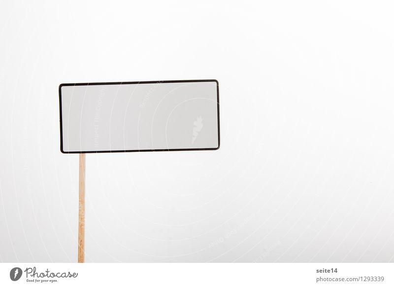 Schild mit Platz für Text weiß Business Aktion Textfreiraum Schilder & Markierungen Schriftzeichen Hinweisschild Information Werbung Meinung Gedanke Ablehnung