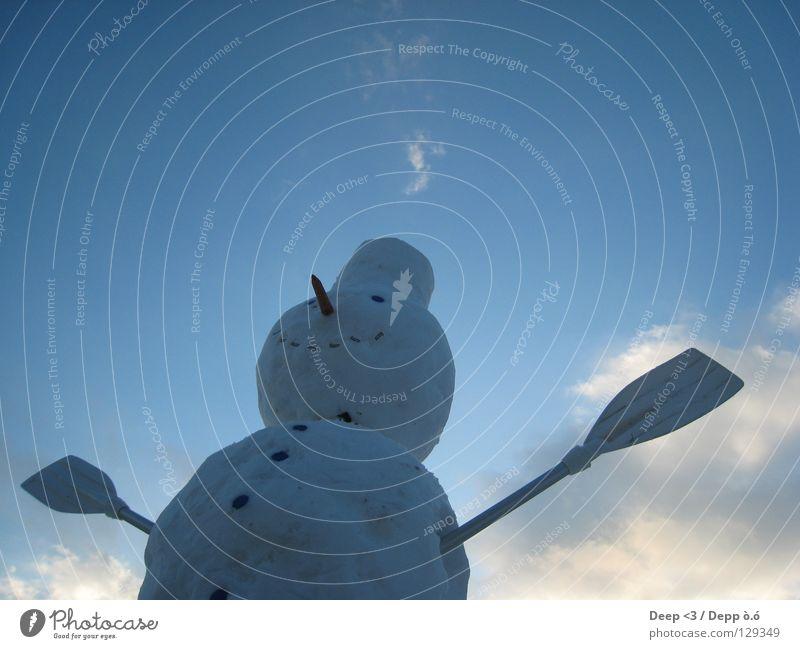 I wanna fly O.o Himmel weiß blau Wolken Winter kalt Schnee grau lachen orange Mund Eis Nase fliegen Kugel Hut