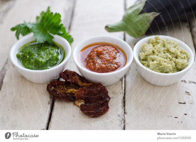 Pesto Pesto Pesto Lebensmittel Kräuter & Gewürze Ernährung Mittagessen Bioprodukte Vegetarische Ernährung Slowfood Italienische Küche Schalen & Schüsseln Duft