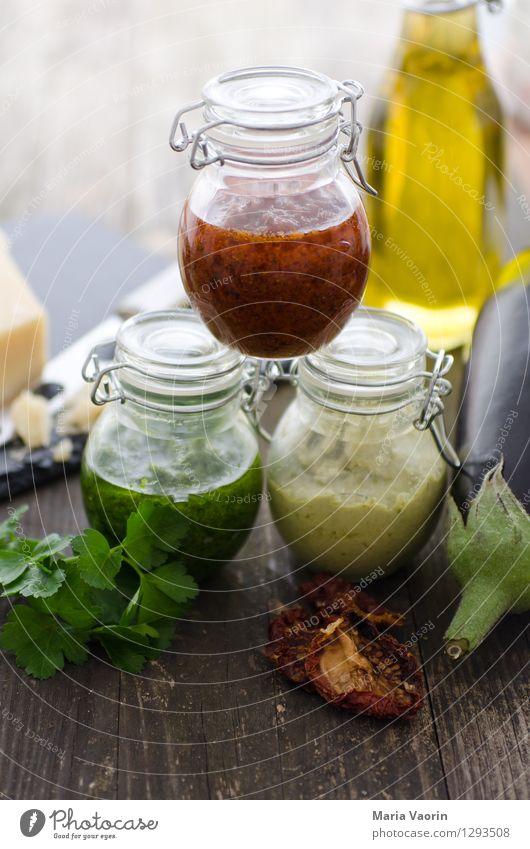 Pesto Pesto und nochmal Pesto Lebensmittel Kräuter & Gewürze Ernährung Mittagessen Bioprodukte Vegetarische Ernährung Slowfood Italienische Küche Duft lecker