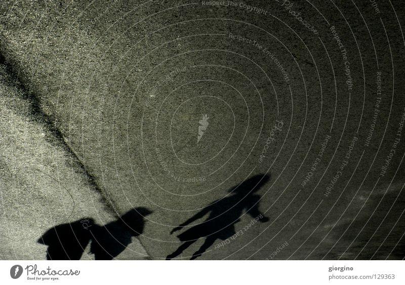 the others and all that Park Familie & Verwandtschaft Hintergrundbild Licht Mensch Freizeit & Hobby Gefühle concept shadow shadows street child texture line