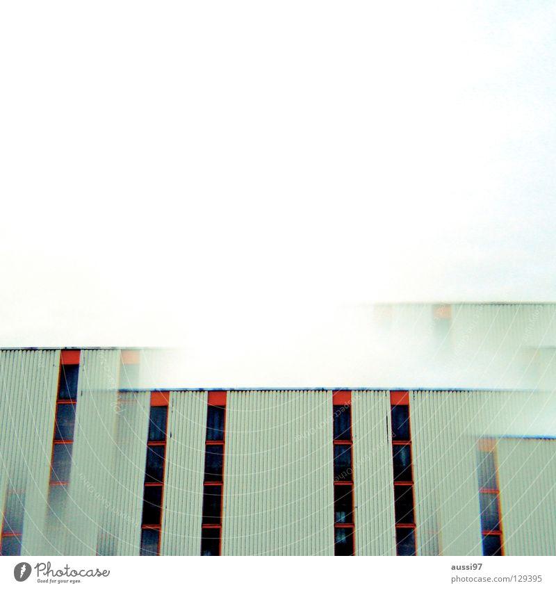 Genug! Stadt Hochhaus Industrie modern Dach Etage Surrealismus seltsam Doppelbelichtung Smog Penthouse Prisma