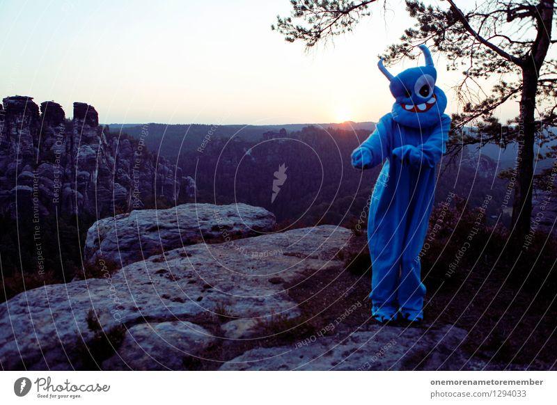 little dance blau Freude Kunst Felsen ästhetisch Tanzen Abenteuer Tanzveranstaltung Maske Kunstwerk Kostüm Karnevalskostüm Monster spaßig Spaßvogel Außerirdischer