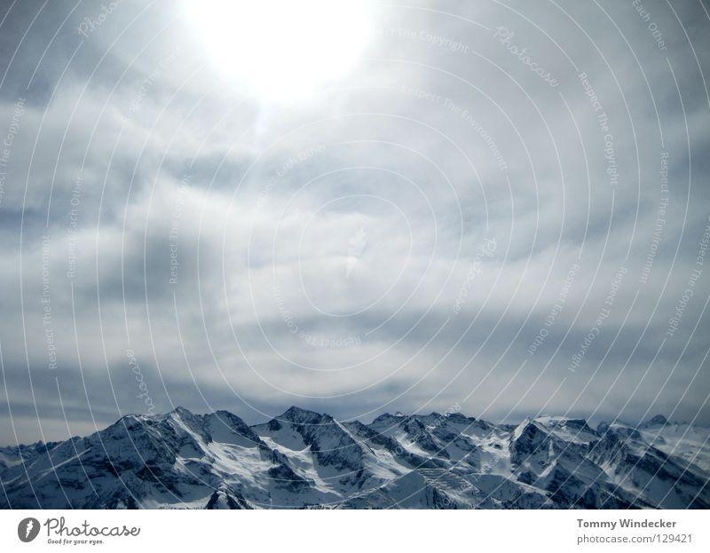 i will wieder hoam Bergkette Winterurlaub Skigebiet Panorama (Aussicht) Gipfel Ferien & Urlaub & Reisen Österreich Gletscher Bundesland Tirol Ahorn kalt Wolken