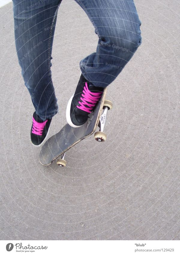 Skater-Minelli 3 Asphalt Schuhe Schuhbänder grau schwarz rosa Freizeit & Hobby Skateboarding