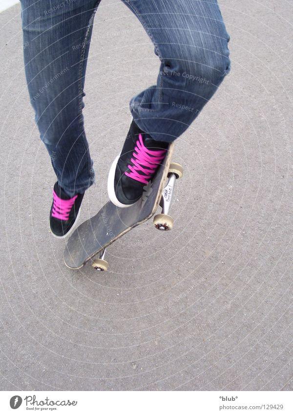 Skater-Minelli 3 schwarz grau Schuhe rosa Freizeit & Hobby Asphalt Skateboarding Schuhbänder