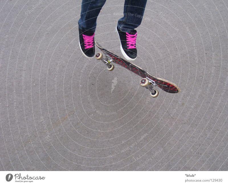Skater-Minelli 4 schwarz grau Schuhe rosa Freizeit & Hobby Asphalt Skateboarding Schuhbänder