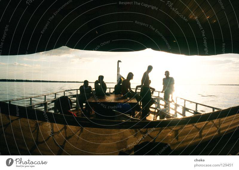 arche noah Mensch Wasser Sonne Ferne Glück Wege & Pfade Freundschaft Wind Fluss Frieden gemütlich Tourist Brasilien Hängematte Amazonas