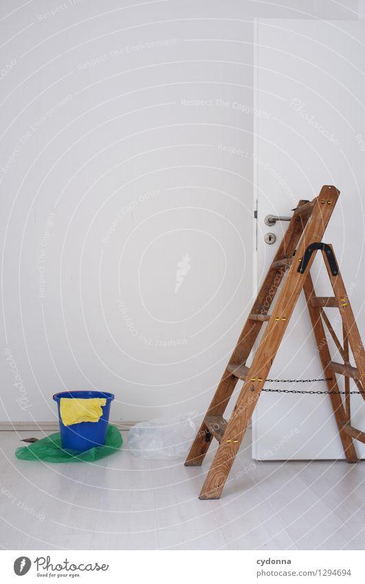 Halbfertig Häusliches Leben Wohnung Renovieren Umzug (Wohnungswechsel) Raum Dienstleistungsgewerbe Mauer Wand Tür Beginn Genauigkeit Idee innovativ Inspiration