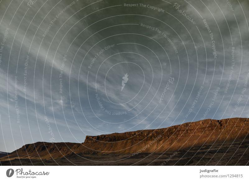 Island Himmel Natur Wolken kalt Berge u. Gebirge Umwelt natürlich Felsen wild Wetter Klima