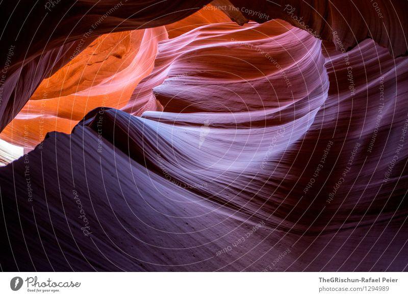 Antelope Umwelt Natur Landschaft Bekanntheit blau braun gelb grau orange weiß Antelope Canyon Schlucht Felsen Gesteinsformationen schön Sandstein Navajo-Gebiet