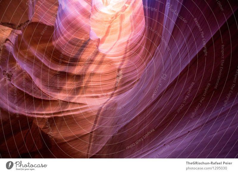 farbenverlauf Umwelt Natur Landschaft Urelemente Erde Sand blau braun mehrfarbig violett orange rosa schwarz Antelope Canyon Verlauf Felsen Farbstoff