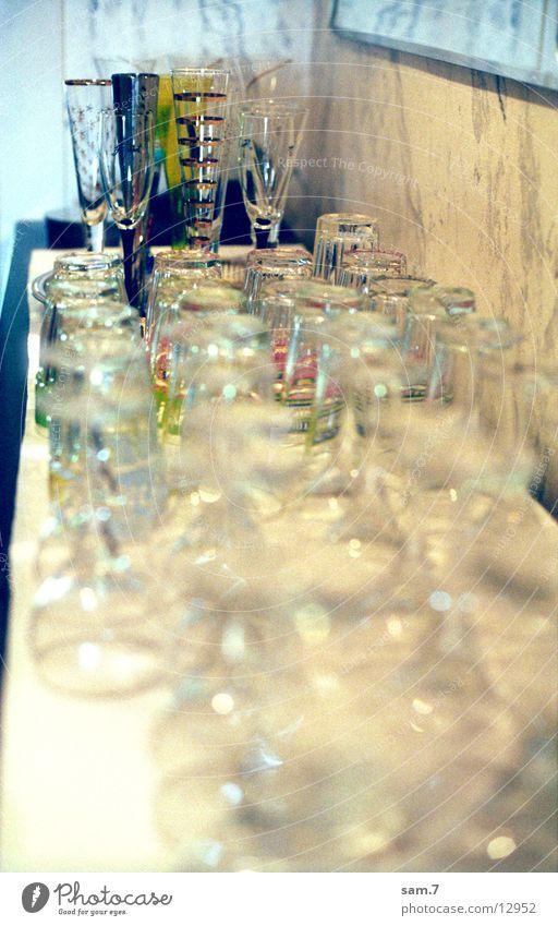 gläsern Glas Küche Sektglas