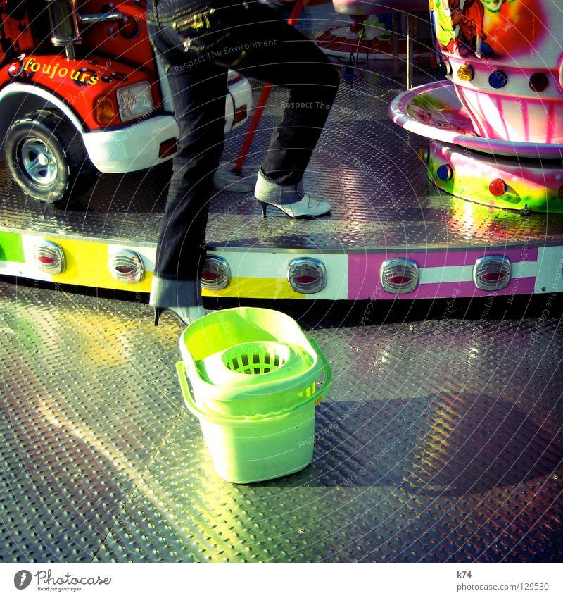 KIRMES 2 Freude Spielen Beleuchtung Arbeit & Erwerbstätigkeit glänzend fahren Reinigen Jeanshose Beruf Lastwagen drehen Jahrmarkt obskur aufsteigen KFZ
