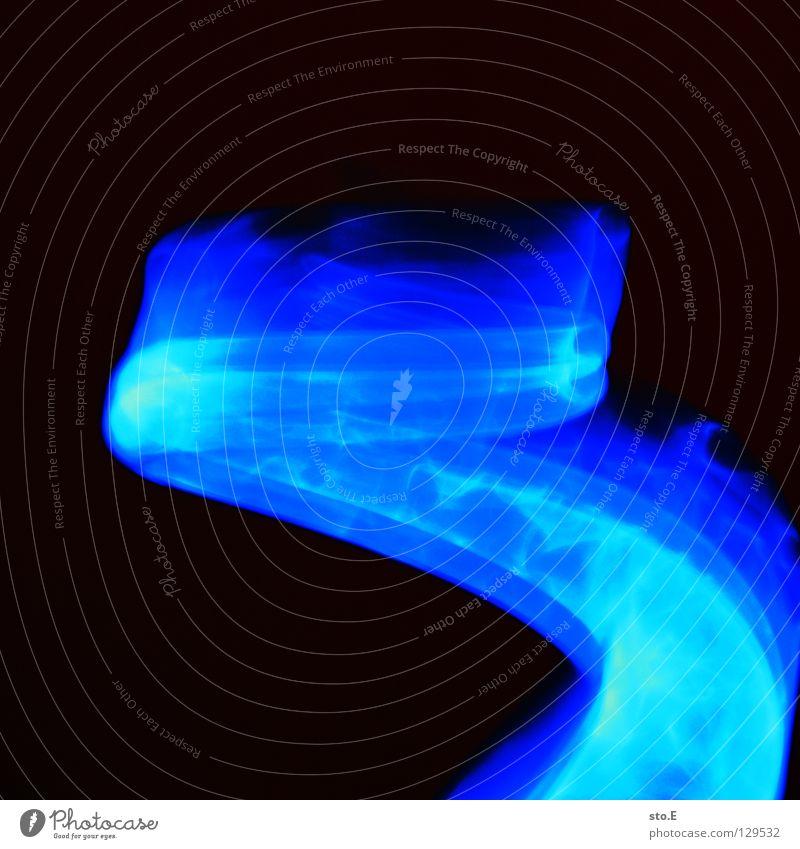 the source of illumination pt.3 blau schwarz Farbe Lampe dunkel Bewegung hell Beleuchtung glänzend Glas Hintergrundbild Geschwindigkeit Aktion Technik & Technologie rund Flügel